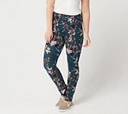 LOGO by Lori Goldstein Printed Knit Slim Leg Pant - A347699