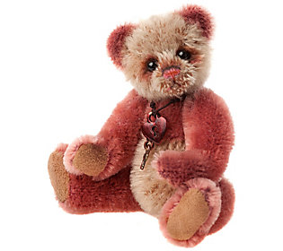 Charlie Bears Collectible Slipper Mohair Key Ring/Ornament