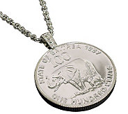 Lucky Elephant Coin Pendant and Chain - C213703