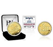 New England Patriots Super Bowl LIII ChampionsGold Mint Coin - C215407