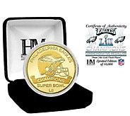 Philadelphia Eagles Super Bowl LII Champs Gold Mint Coin - C214311