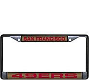 Rico NFL Laser License Plate Frame - Black - C215215
