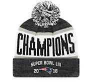 NFL Super Bowl LIII Champ PatriotsBeanie with Pom - C215421