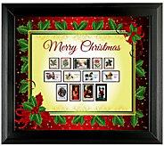 Framed Vintage-Style Christmas Stamps - C214131