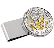 Presidential Seal Half-Dollar Stainless Steel Money Clip - C214033