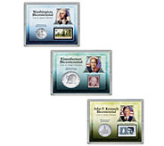 American Coin Treasures Presidential Coin and Stamp Set - C214547