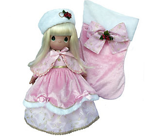 Precious Moments Pink Victorian 24th Annual Stocking