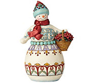 Jim Shore Heartwood Creek Wonderland Snowman with Basket - C214375