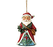 Jim Shore Heartwood Creek Winter Wonderland Santa Ornament - C214379