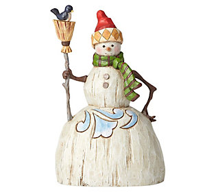 Jim Shore Heartwood Creek Folklore Snowman withBroom