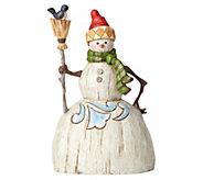 Jim Shore Heartwood Creek Folklore Snowman withBroom Figurine - C214283