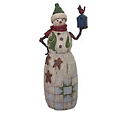 Jim Shore Heartwood Creek Snowman w/ BirdhouseFigurine - C214285