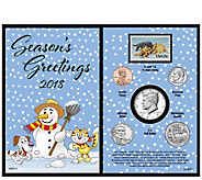 American Coin Treasures 2018 Snowman Coin and Stamp Card - C214393
