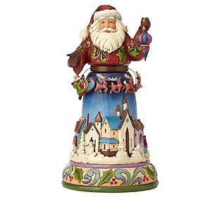 Jim Shore Heartwood Creek Santa with Rotating