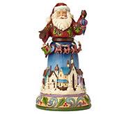 Jim Shore Heartwood Creek Santa with Rotating Reindeer - C214697
