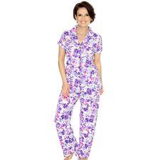 CAROLE HOCHMAN  Jersey-Qualität Pyjama 1/2-Arm Blumen-Druck