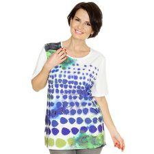 IN PRINT IN-PRINT Shirt, 1/2-Arm Materialmix Punkte- Aquarelldruck
