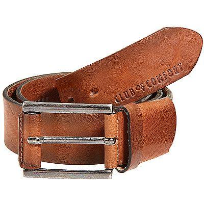 CLUB OF COMFORT® Herrengürtel echt Leder Breite ca. 4cm Schnalle silberfarben Preisvergleich