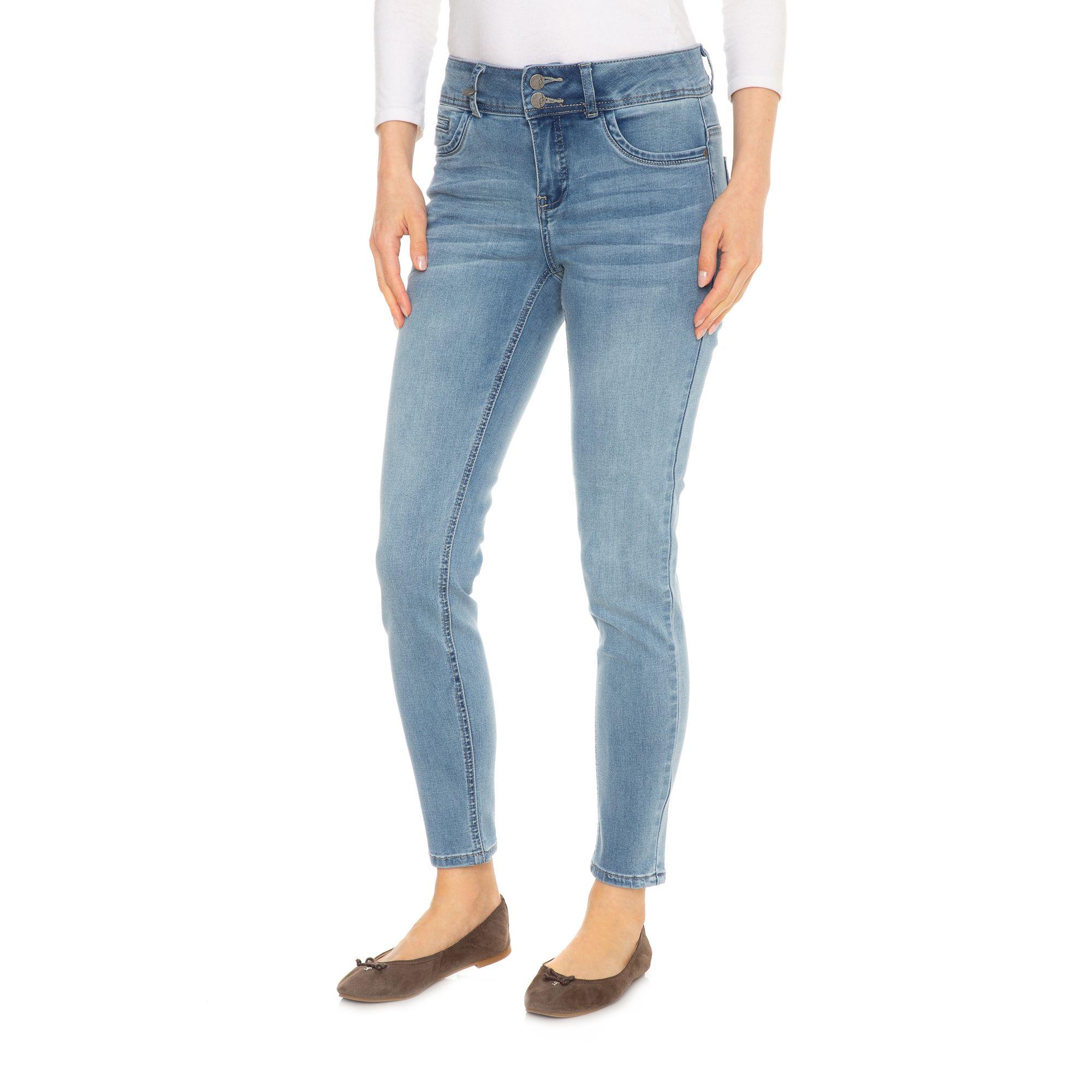 9fff15b2c093 fransa® Jeanshose knöchellang breiter Bund 5-Pocket-Style — QVC.de