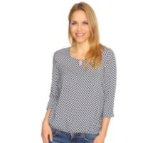 GERRY WEBER Collection  Bluse Krempelarm Tupfenmuster