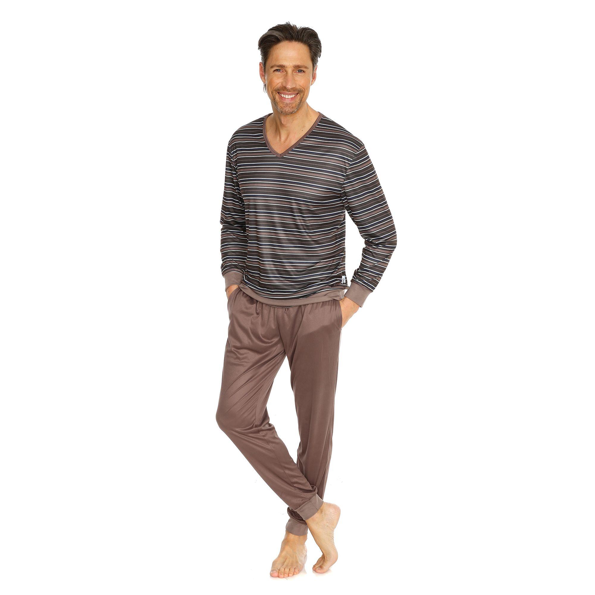 187a2fee90 MEN'S TOUCH Pyjama 1/1-Arm Mikrofaser gestreift - Page 1 — QVC.de