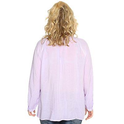 ULLA POPKEN Bluse mit dekorativer Knopfleiste dunkelblau NEU