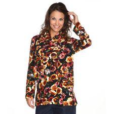 IN PRINT IN-PRINT Shirt, 1/1-Arm V-Ausschnitt inklusive Schal Winterqualität