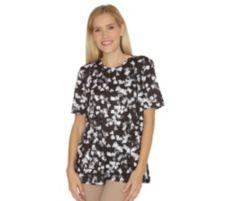 IN PRINT IN-PRINT Shirt, 1/2-Arm Rundhalsausschnitt Herzchendruck Seitenschlitze
