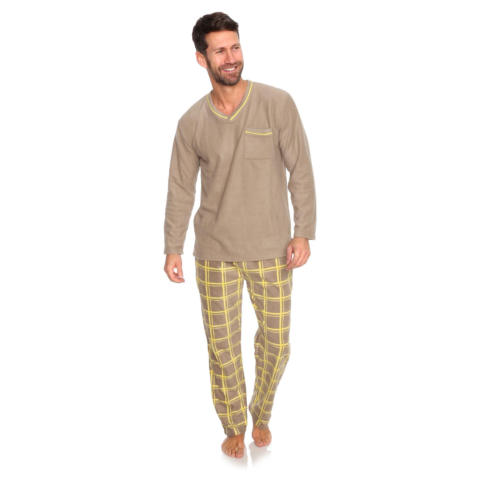 d3f38e94c6 MEN'S TOUCH Pyjama 1/1-Länge Mikrofaser Karodruck - Page 1 — QVC.de