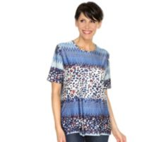 IN PRINT IN-PRINT Shirt, 1/2-Arm Animalmix Foliendetails