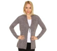 HEKLA CO HEKLA & CO. Cardigan 1/1-Arm Rippstrick Made in Italy