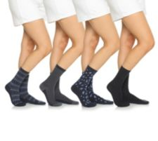 CUDDL DUDS  Pima-Baumwolle Socken gemustert 4er-Pack