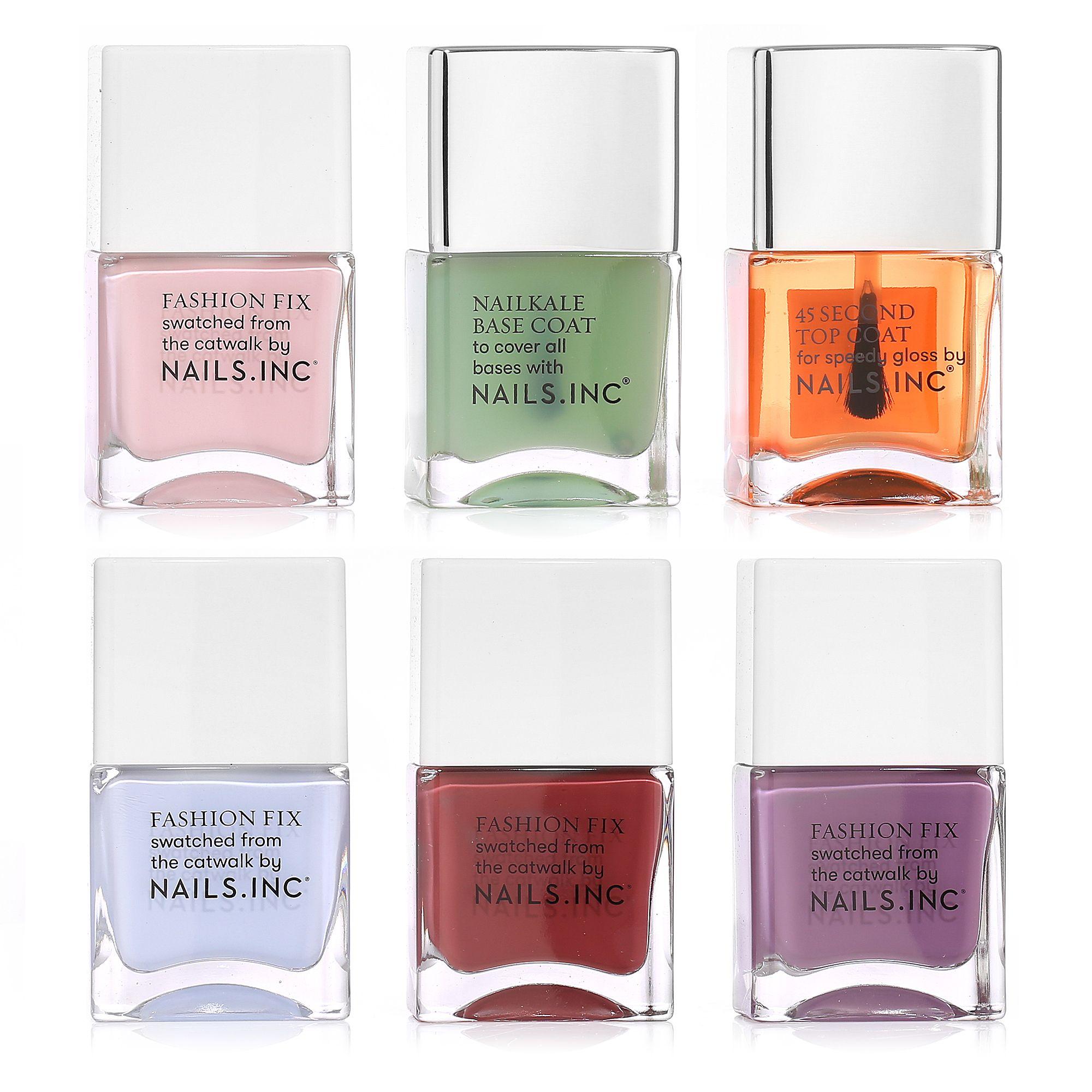 Top NAILS INC Colour & Care Base- & Topcoat mit Trendlacken & Nail KD44