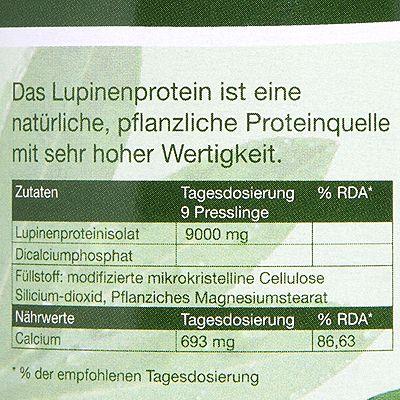 lupineneiweiß tabletten