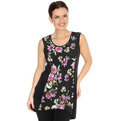 KIM & CO. Brazil-Knit-Jersey Shirt ärmellos Floral-Druck vorne Preisvergleich
