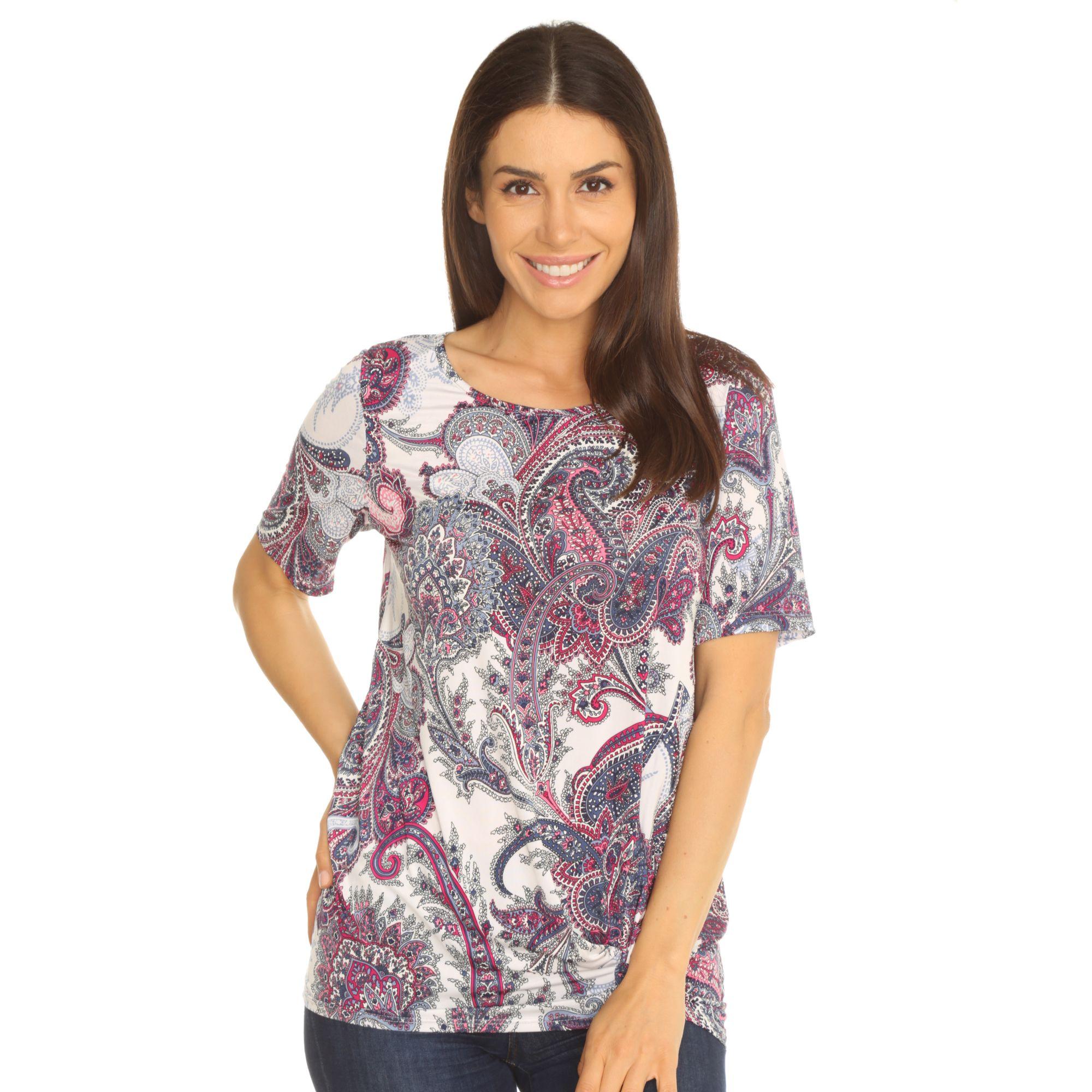 701a6df19bedaa KIM & CO. Shirt, 1/2-Arm Venechia Jersey Saum mit Knotendetail - Page 1 —  QVC.de