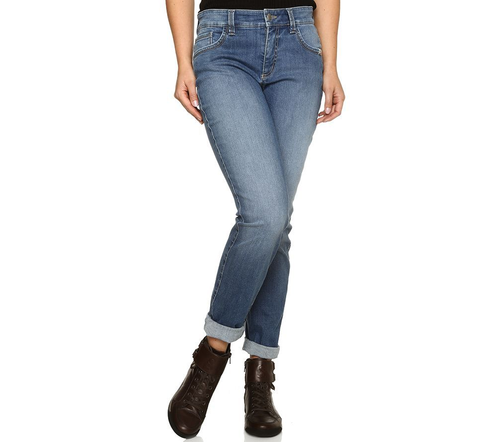 3ef6abd8db3f STRANDFEIN Jeanshose Sina Stretch-Denim Normal- & Kurzgröße — QVC.de