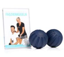 FLEXI SPORTS FLEXI-SPORTS Massagebälle aus PUR, 2x 8cm mit DVD zur Massagetherapie