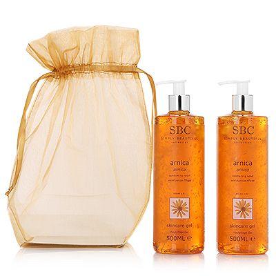 SBC Arnica Skincare Gel 2x 500ml & Organzabeutel Preisvergleich