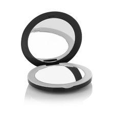 BORIS ENTRUP  Taschenspiegel mit LED & 2fach Vergrößerung schwarz, 2seitig