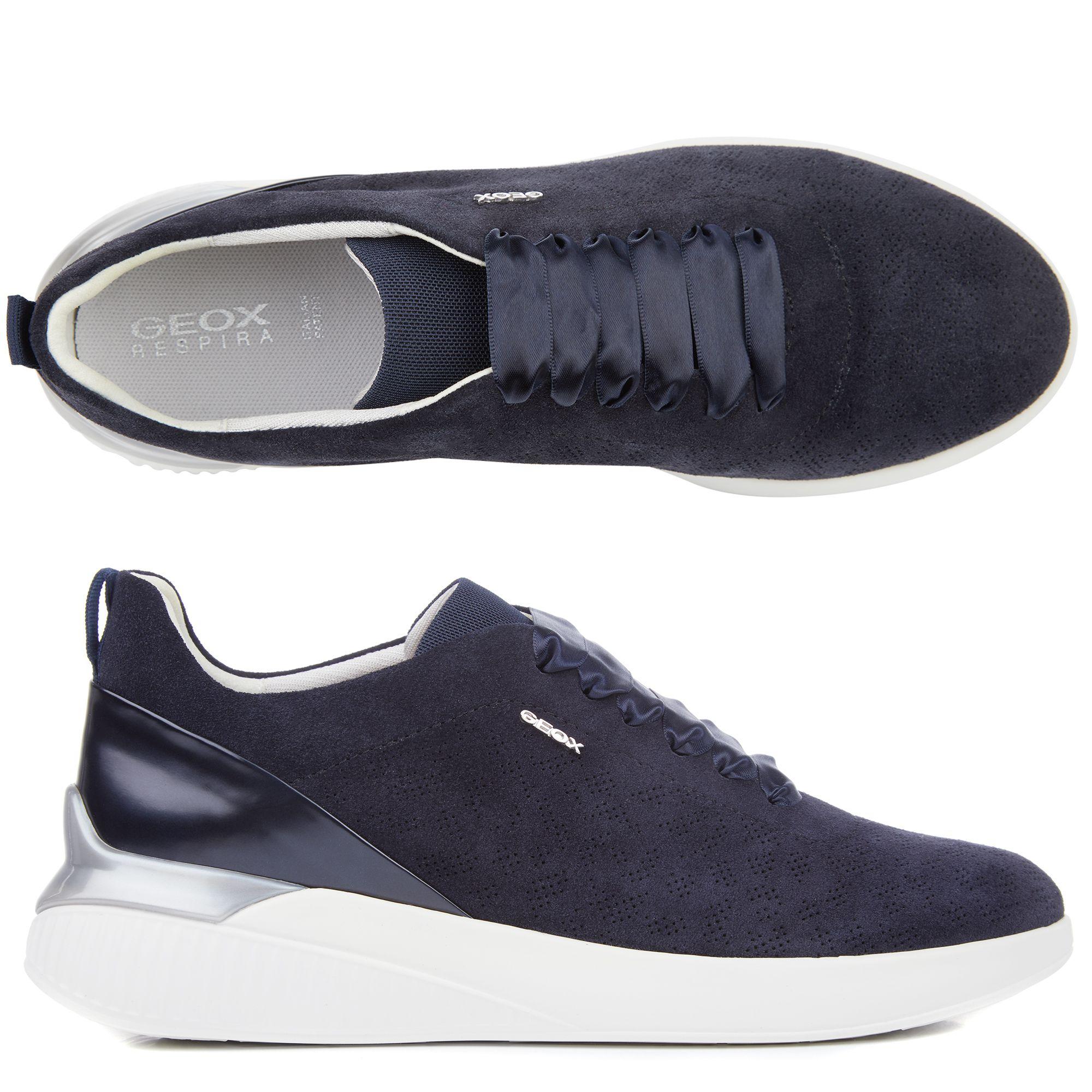 GEOX Damen Sneaker Theragon Materialmix atmungsaktive Sohle —