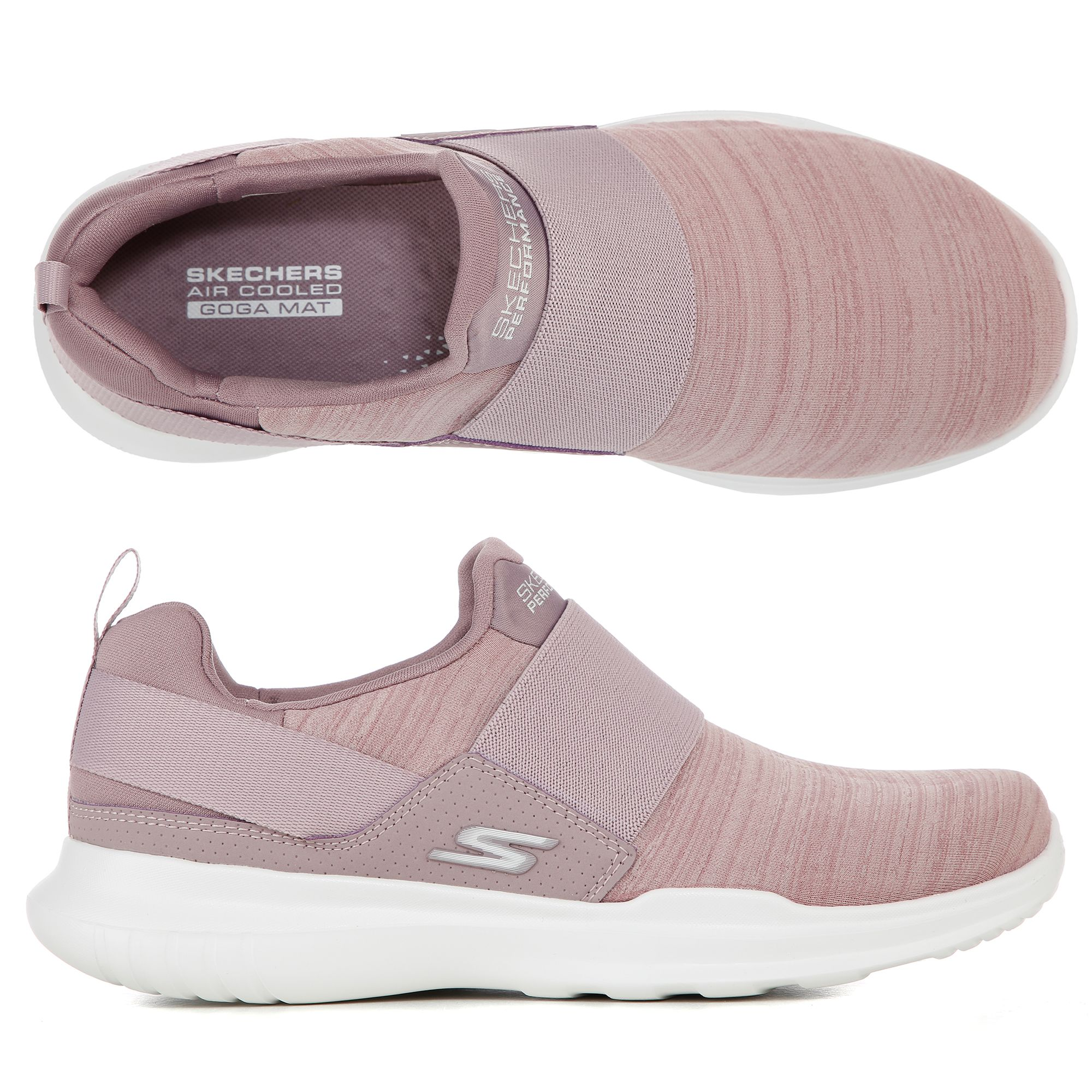 SKECHERS Damen Slipper Go Run Mojo Textil Goga Mat Technologie —
