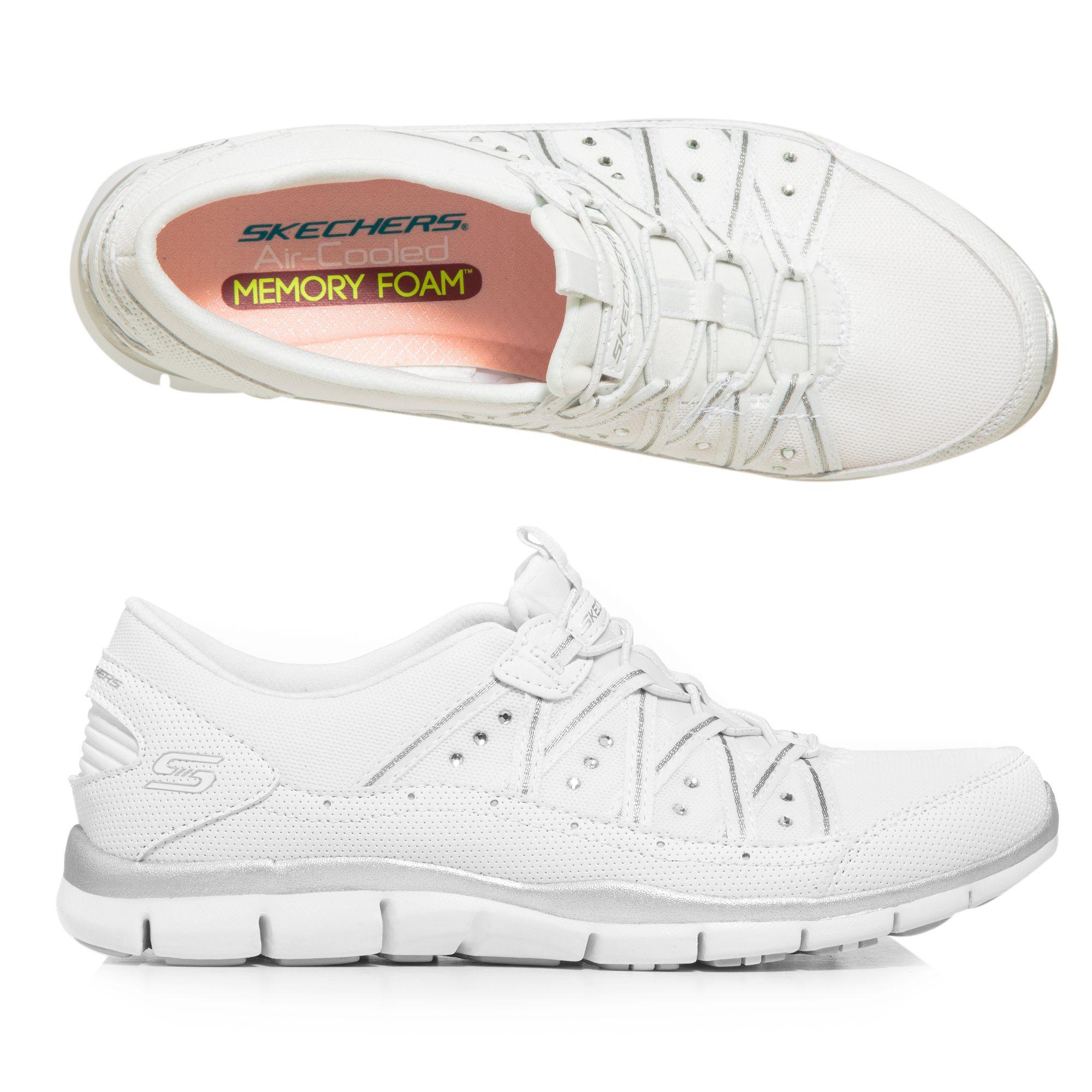 bef7a57c8b SKECHERS Damen-Sneaker Gratis Strasssteine Memory Foam - Page 1 — QVC.de