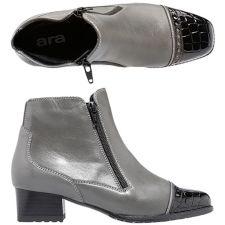 ARA  Damen-Stiefelette echt Leder H-Weite Absatz ca. 4cm