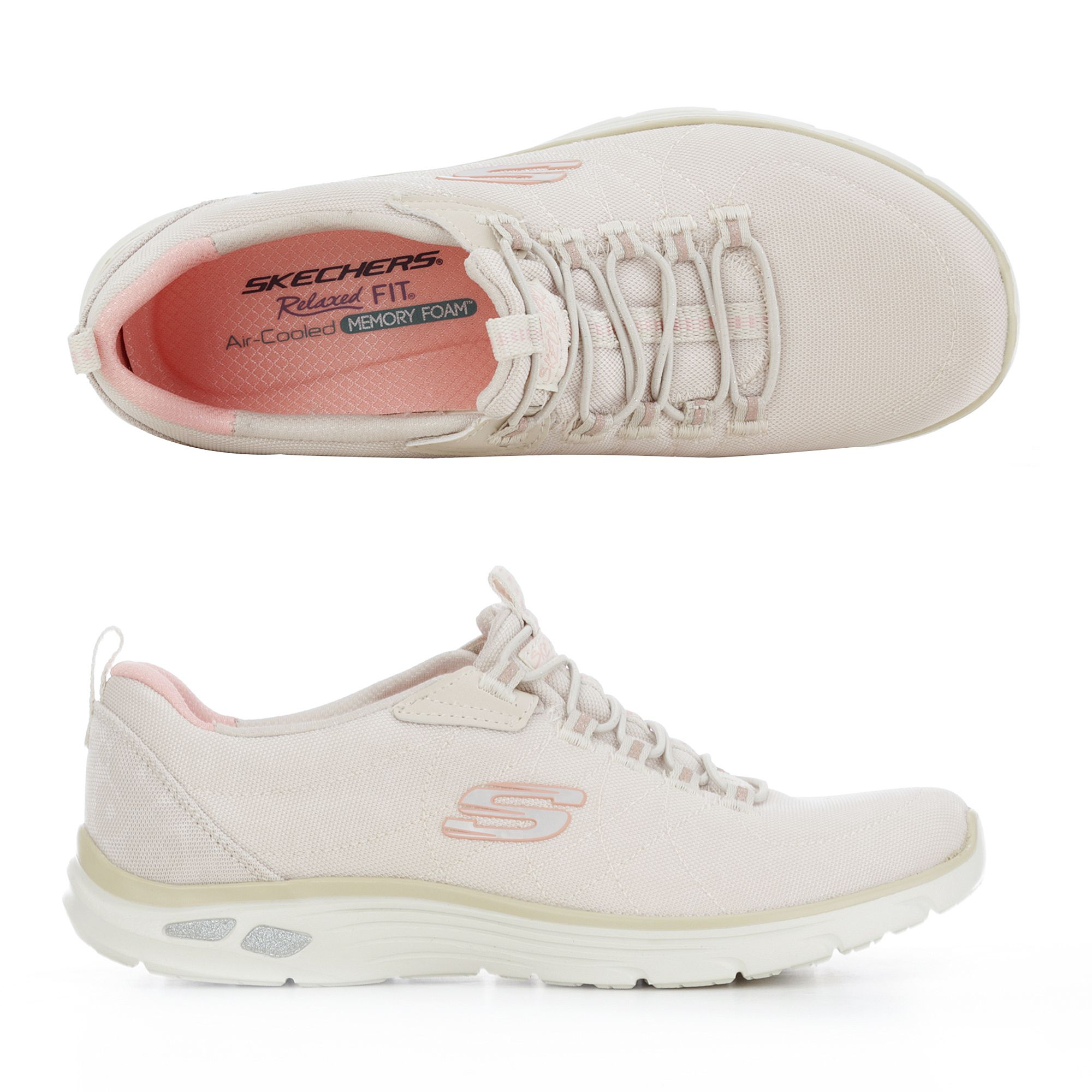 148069eab6 SKECHERS Damen-Sneaker Empire Bungeeschnürung Memory Foam - Page 1 — QVC.de