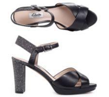 CLARKS  Sandalette Kendra Petal echt Leder Absatz ca.7cm