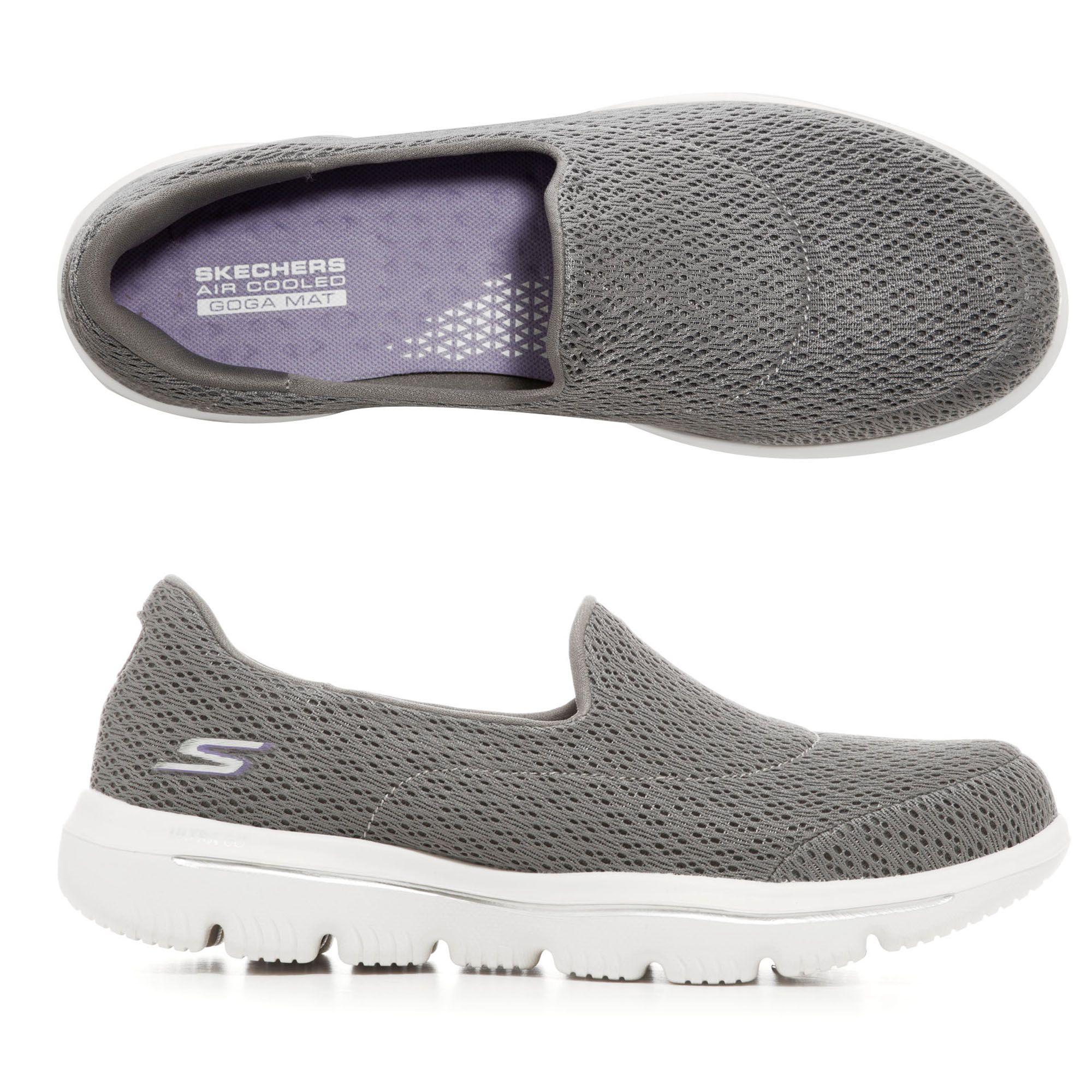 SKECHERS Damen Slipper Go Walk Textil & Mesh Goga Mat Technologie —