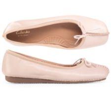 CLARKS  Ballerina Freckle Ice echt Leder G-Weite