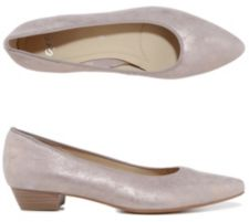 ARA  Pumps Paris Veloursleder Metallic-Optik