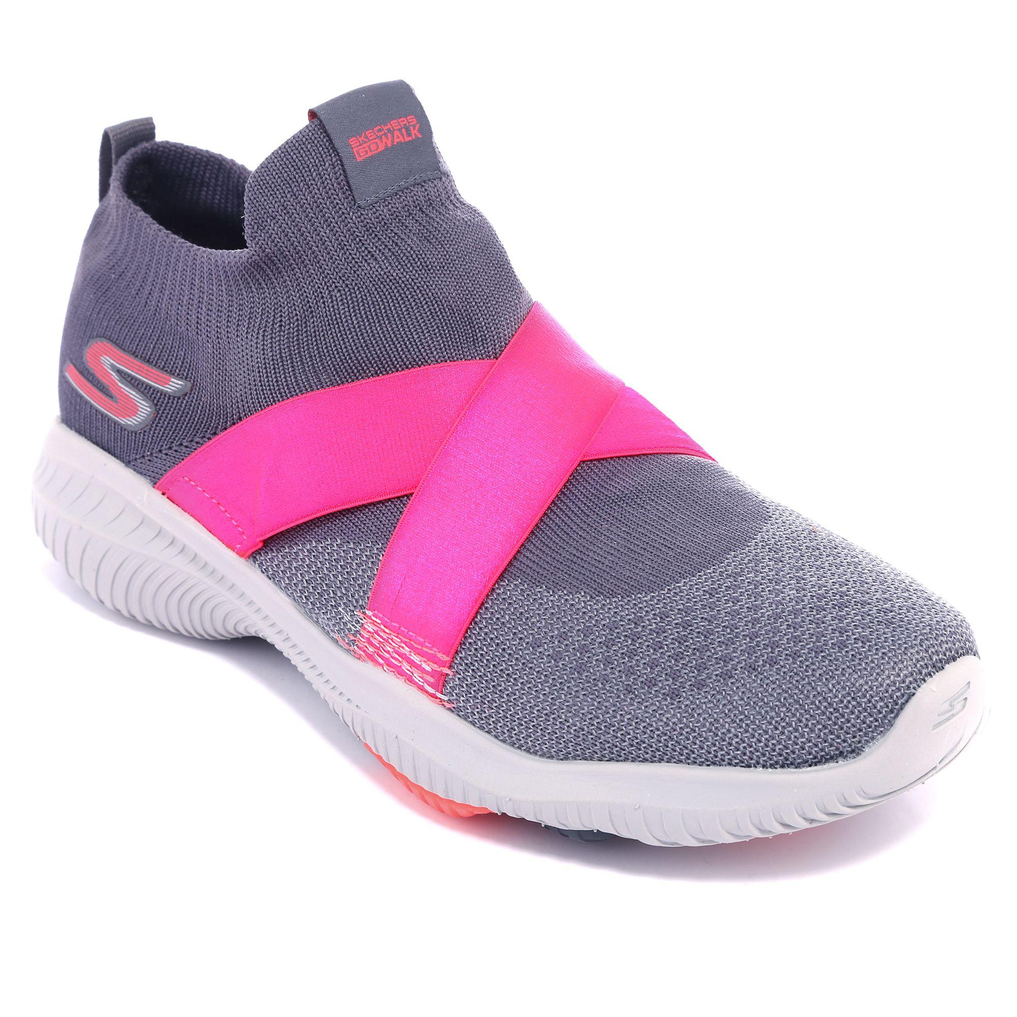 SKECHERS Damen Sneaker Go Walk Revolution Textil Goga Mat Technologie —
